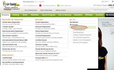 לאחר ביצוע לוגין - לחץ על הכפתור Domain Management